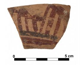 Ceramic vessel 6 close to grave 233. Cemetery of La Noria.