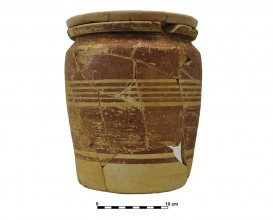 Recipiente cerámico 8. Tumba 65. Necrópolis de Piquía.