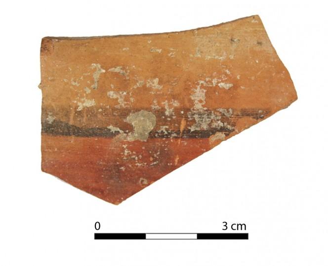 Ceramic vessel 2086-1. Oppidum Puente Tablas