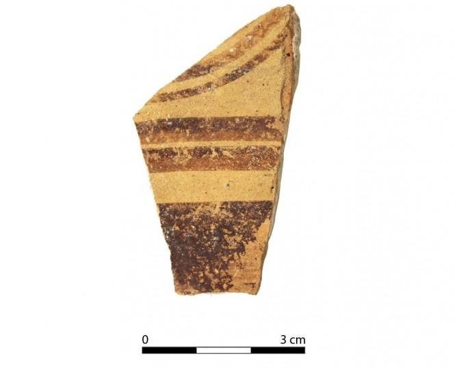 Ceramic vessel 2254-1. Oppidum Puente Tablas